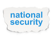 Protection concept: National Security on Paper background — Stock Photo