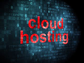 Cloud computing concept: Cloud Hosting on digital background — Stock Photo