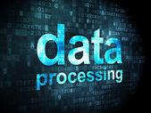 Información concepto: el procesamiento de datos sobre fondo digital — Foto de Stock