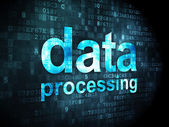 Information concept: Data Processing on digital background — 图库照片