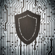 Privacy concept: circuit board with Shield — Stock Photo