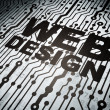 Web design concept: circuit board with Web Design — Stock Photo