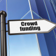 Finance concept: sign Crowd Funding on Building background — Stock Photo #36780651