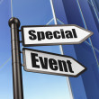 Business concept: sign Special Event on Building background — ストック写真