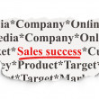 Stock Photo: Marketing concept: Sales Success on Paper background