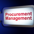 Stock Photo: Business concept: Procurement Management on billboard background