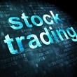 Finance concept: Stock Trading on digital background — Stock Photo