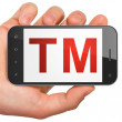 Law concept: Trademark on smartphone — Stock Photo