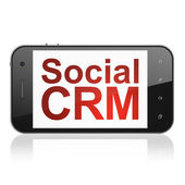 Finance concept: Social CRM on smartphone — Photo