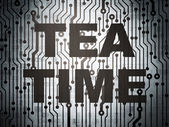 Timeline concept: circuit board with Tea Time — Stock Photo