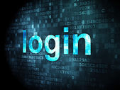 Safety concept: Login on digital background — Stock Photo