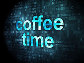 Time concept: Coffee Time on digital background — Stock Photo
