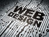 Web tasarım: web tasarım ile devre kartı — Stok fotoğraf