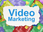 Finance concept: Video Marketing on Credit Card background — Stock Photo