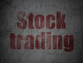 Business concept: Stock Trading on grunge wall background — Stock Photo