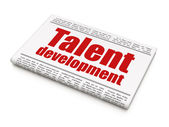 Onderwijs concept: krantekop talentontwikkeling — Stockfoto
