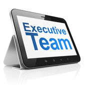 Business concept: Executive Team on tablet pc computer — Stock Photo