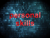 Education concept: Personal Skills on digital background — Stock Photo