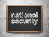 Säkerhetskoncept: nationell säkerhet på svarta tavlan bakgrund — Stockfoto