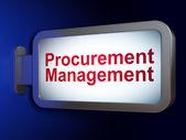 Business concept: Procurement Management on billboard background — Zdjęcie stockowe
