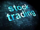 Koncepcja finansowania: giełdowych na tle cyfrowy — Zdjęcie stockowe