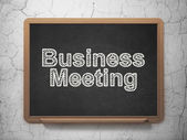Finance concept: Business Meeting on chalkboard background — Foto Stock