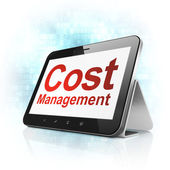 Business concept: Cost Management on tablet pc computer — Stock Photo