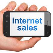 Marketing concept: Internet Sales on smartphone — Stock Photo