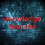 Постер, плакат: Education concept: Knowledge Transfer on digital background
