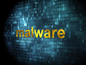 Security concept: Malware on digital background — Stock Photo