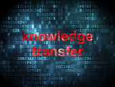 Education concept: Knowledge Transfer on digital background — Foto de Stock