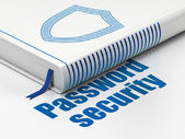 Security concept: book Contoured Shield, Password Security — Stock Photo