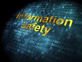 Protection concept: Information Safety on digital background — Zdjęcie stockowe
