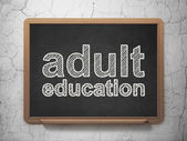 Education concept: Adult Education on chalkboard background — Stock Photo