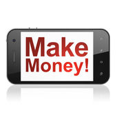 Finance concept: Make Money! on smartphone — Stock Photo