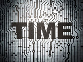 Time concept: circuit board with Time — Stock Photo