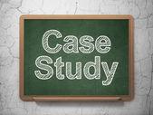 Le concept de l'éducation : étude de cas sur fond de tableau — Photo