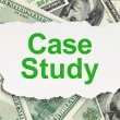 Education concept: Case Study on Money background — Stock Photo