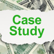 Education concept: Case Study on Money background — Stock Photo #36958921