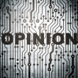 Marketing concept: circuit board with Opinion — Photo