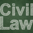 Law concept: Civil Law on chalkboard background — Stock Photo
