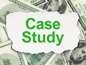 Education concept: Case Study on Money background — ストック写真