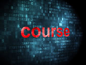 Education concept: Course on digital background — Stockfoto