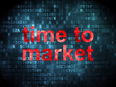 Time concept: Time to Market on digital background — Stock Photo