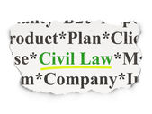 Law concept: Civil Law on Paper background — Stock Photo