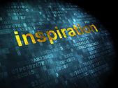 рекламная концепция: вдохновение на фоне цифровой — Стоковое фото