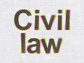 Law concept: Civil Law on fabric texture background — Stock Photo