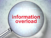 Information concept: Information Overload with optical glass — Stockfoto