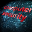 Security concept: Computer Security on digital background — Stock Photo