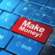 Finance concept: Make Money! on computer keyboard background — Stock Photo